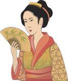 Japanse geisha Stock Foto's