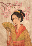Japanse geisha Royalty-vrije Stock Foto's