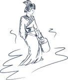 Japanse geisha Stock Illustratie