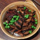Japanse Geroosterde Varkensvleesrijst Stock Foto