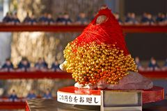 Japanse god van beurs tenjin Stock Foto