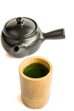 Japanse groene thee op isolate Royalty-vrije Stock Foto