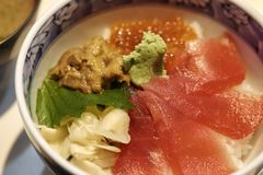Japanse heerlijke zeeëgelmaaltijd royalty-vrije stock foto
