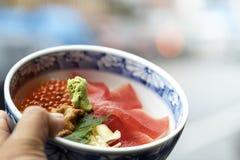 Japanse heerlijke zeeëgelmaaltijd stock afbeelding