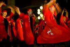 Japanse het festivalmaturi van het dansers jonge meisje Stock Afbeelding