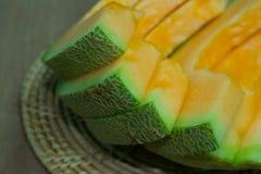 Japanse het fruitachtergrond van de meloendia Royalty-vrije Stock Foto