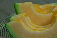 Japanse het fruitachtergrond van de meloendia Royalty-vrije Stock Afbeelding