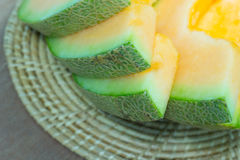 Japanse het fruitachtergrond van de meloendia Stock Fotografie