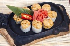 Japanse hete sushi stock afbeeldingen
