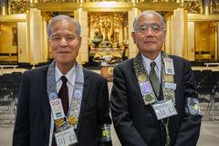 Japanse Hogere ceremoniemeester Royalty-vrije Stock Foto's