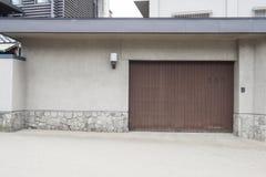 Japanse houten deur Stock Afbeeldingen