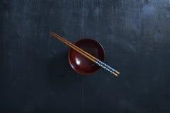 Japanse houten eetstokjes stock foto's