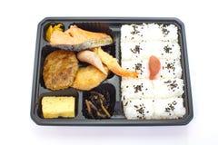 Japanse kant-en-klare lunchbox, Bento Stock Foto
