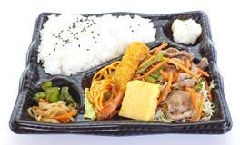 Japanse kant-en-klare lunchbox, Bento Stock Afbeelding