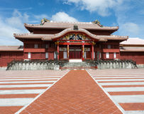 Japanse kasteelbinnenplaats Stock Foto