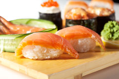 Japanse Keuken - de Reeks van Sushi Stock Fotografie
