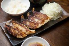 Japanse Keuken GyÅzaor Potstickers Stock Afbeelding