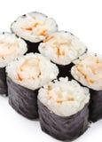 Japanse Keuken - het Broodje van Garnalen Stock Fotografie