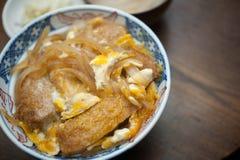 Japanse Keuken, Katsudon Stock Foto