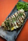 Japanse Keuken Okonomiyaki Royalty-vrije Stock Fotografie