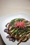 Japanse Keuken Okonomiyaki Royalty-vrije Stock Afbeelding