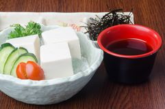 Japanse keuken tofu op de achtergrond Royalty-vrije Stock Fotografie