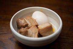 Japanse Keuken, Varkensvlees Kakuni Royalty-vrije Stock Afbeelding