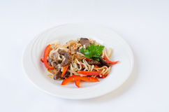 Japanse keukennoedels Royalty-vrije Stock Foto