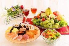 Japanse keukensushi royalty-vrije stock afbeeldingen