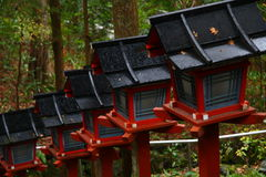 Japanse lantaarns Stock Afbeelding