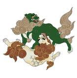 Japanse Leeuw Royalty-vrije Stock Afbeeldingen