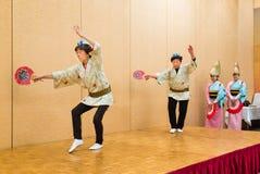 Japanse lokale uitvoerders die traditionele lokale Japanner uitvoeren Stock Afbeelding
