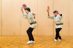 Japanse lokale uitvoerders die traditionele lokale Japanner uitvoeren Royalty-vrije Stock Afbeelding