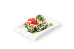 Japanse makireeks van zeevruchtensushi Royalty-vrije Stock Afbeeldingen