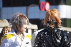 Japanse meisjes in Harajuku Royalty-vrije Stock Foto's
