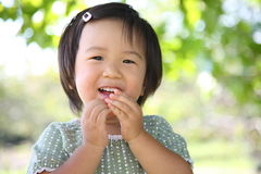 Japanse meisjesglimlachen Royalty-vrije Stock Fotografie