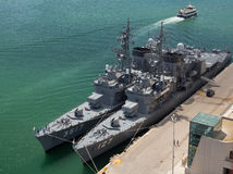 Japanse militaire schepen royalty-vrije stock foto's