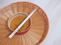 Japanse miso soep Stock Foto