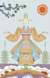 Japanse monnik Royalty-vrije Stock Afbeeldingen