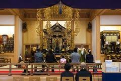 Japanse Monnik bij Zojoji-Tempel in Tokyo Royalty-vrije Stock Foto