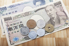 Japanse munt Royalty-vrije Stock Afbeelding