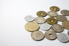 Japanse muntstukken stock foto's