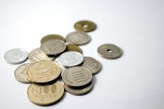 Japanse muntstukken royalty-vrije stock fotografie
