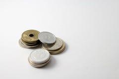 Japanse muntstukken royalty-vrije stock afbeelding
