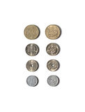 Japanse muntstukken stock fotografie