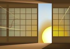 Japanse muur vector illustratie