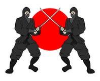 Japanse ninjas Stock Foto's