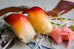 Japanse octopussushi Stock Afbeelding