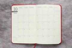 Japanse Oktober-kalender in de agenda van 2016 Royalty-vrije Stock Afbeeldingen
