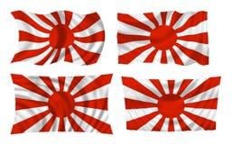 Japanse oorlogsvlag Stock Foto